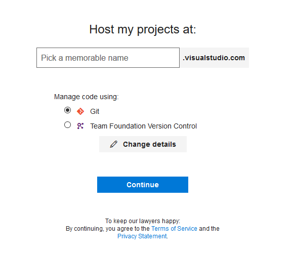 VSTS signup